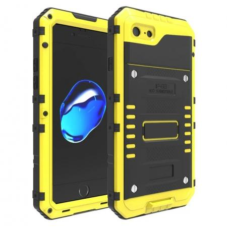 IP68 Waterproof / Dust Proof / Shockproof Aluminum Metal Case for iPhone 7 4.7inch - Yellow
