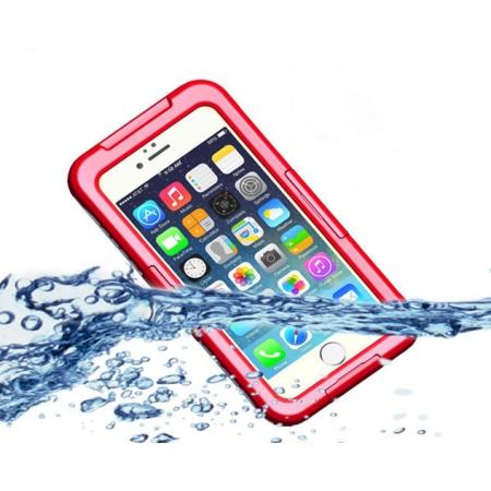 Waterproof Durable Shockproof Dirt Snow Proof PC Case Cover for iPhone 7 4.7 inch - Red