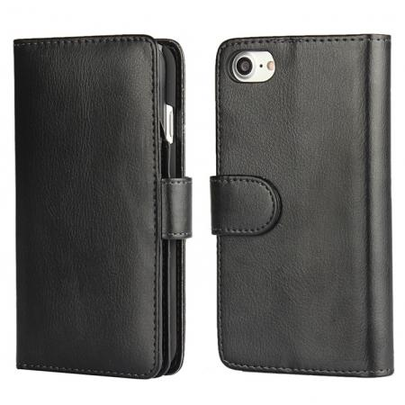 Multifunctional Magnet Wallet Leather Flip Case Cover for iPhone 7 4.7 inch - Black