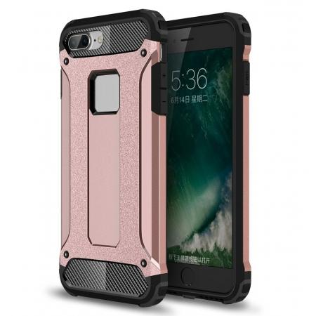 Dustproof Dual-layer Hybrid Armor Protective Case For Apple iPhone 7 Plus 5.5inch - Rose gold