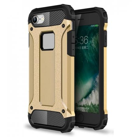 Shockproof Dual-layer Armor Hybrid Protective Case for Apple iPhone 7 4.7inch - Gold