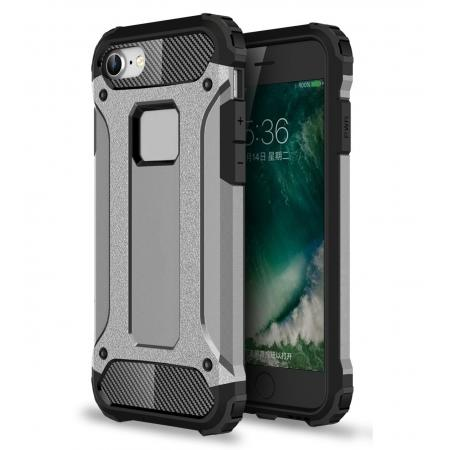 Shockproof Dual-layer Armor Hybrid Protective Case for Apple iPhone 7 4.7inch - Gray