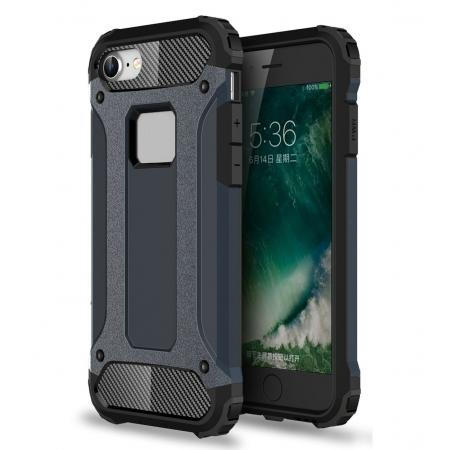 Shockproof Dual-layer Armor Hybrid Protective Case for Apple iPhone 7 4.7inch - Navy blue