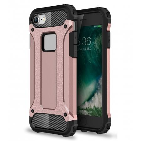 Shockproof Dual-layer Armor Hybrid Protective Case for Apple iPhone 7 4.7inch - Rose gold