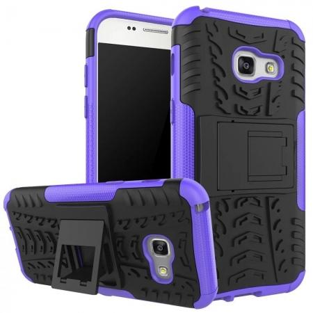 Shockproof Armor Kickstand Hybrid Protective Cover Case For Samsung Galaxy A7 (2017)  - Purple