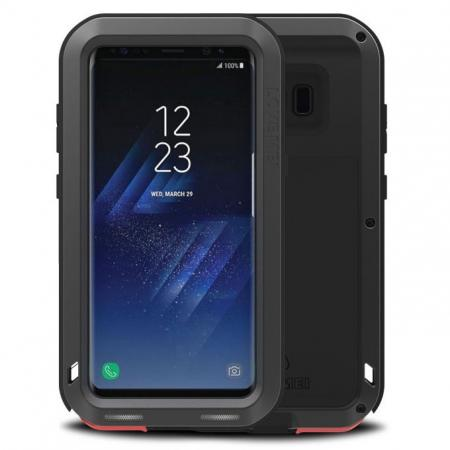 Metal Extreme Aluminum Heavy Duty Shockproof Water Resistant Dust/Dirt/Snow Proof Case for Samsung Galaxy S8 Plus - Black