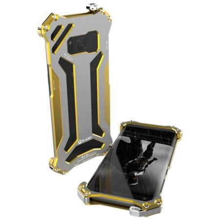 R-JUST Shockproof Dropproof Aluminum Metal Case for Samsung Galaxy S8+ Plus - Gold