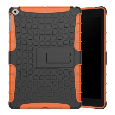 Rugged Armor Shockproof Dual Layer Protective Kickstand Case For Apple iPad 9.7 (2017) - Orange