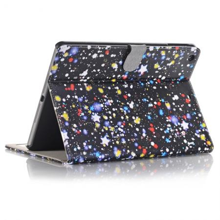 Stars Magnetic PU Leather Card Book Stand Flip Case Cover For New iPad 9.7 (2017)