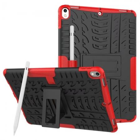 Rugged Armor TPU Hard Hybrid ShockProof Stand Case Cover For iPad Pro 10.5 inch - Red