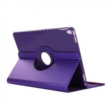 360 Degree Rotating PU Leather Case With Stand For iPad Pro 10.5 inch - Purple