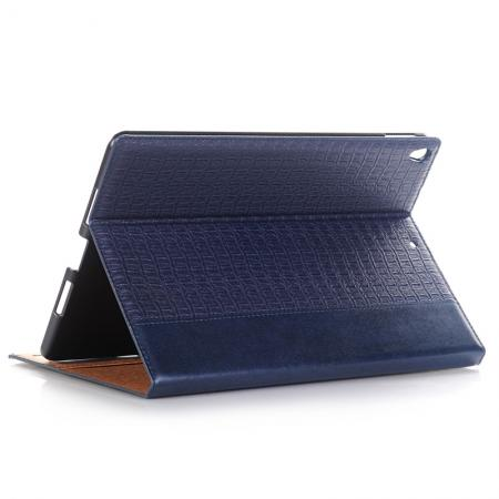 Luxury Crocodile Pattern Stand Book Leather Tablet Case For iPad Pro 10.5-inch - Navy Blue