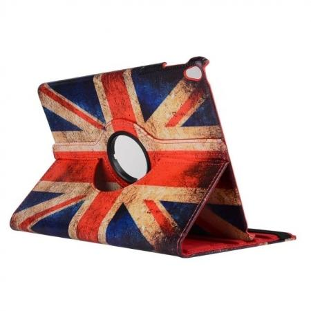 Retro UK Flag Pattern 360 Degree Rotating Stand Leather Case for iPad Pro 10.5-inch