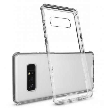 Crystal Clear Hard Back Hybrid TPU Bumper Protective Case For Samsung Galaxy Note 8 - Clear