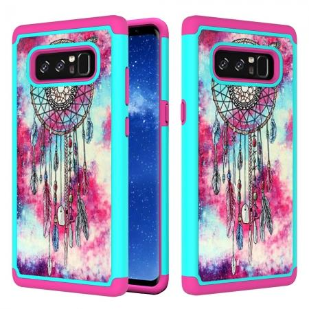 Hybrid Dual Layer Shockproof Defender Phone Case Cover For Samsung Galaxy Note 8 - Dream Catcher