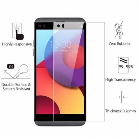Premium Ultra Clear 9H Hardness Tempered Glass Screen Protector Guard For LG Q8