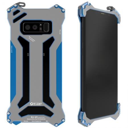 R-JUST Gundam Series Aluminum Metal Shockproof Case for Samsung Galaxy Note 8 - Blue