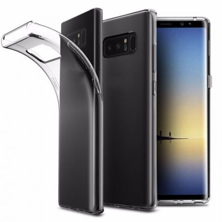 Ultra Slim Thin Flexible Tpu Gel Rubber Soft Skin Case for Samsung Galaxy Note 8 - Transparent