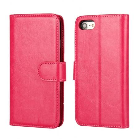 2in1 Magnetic Removable Detachable Leather Wallet Cover Case For iPhone 8 Plus 5.5 inch - Rose