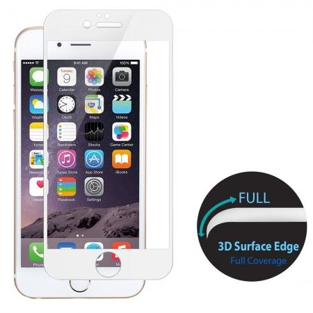 3D Curved Full Coverage Tempered Glass Screen Protector for iPhone 8 4.7inch - White