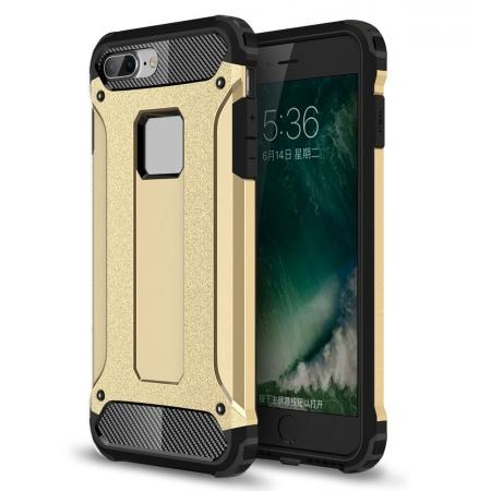 Dustproof Dual-layer Hybrid Armor Protective Case For Apple iPhone 8 Plus 5.5inch - Gold