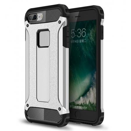 Dustproof Dual-layer Hybrid Armor Protective Case For Apple iPhone 8 Plus 5.5inch - Silver