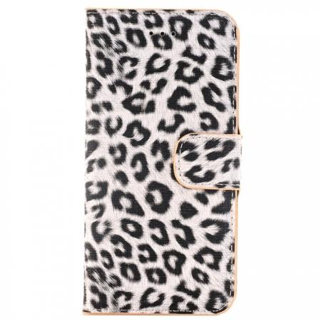 Leopard Pattern Magnetic Pu Leather Wallet Stand Case for iPhone 8 4.7 inch - Yellow