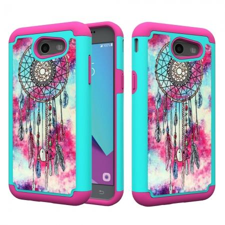 Rugged Armor Dual Layer Protective Case for Samsung Galaxy J3 Emerge / J3 Prime - Dream Catcher