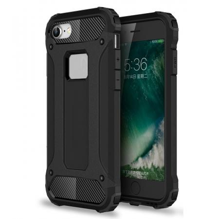 Shockproof Dual-layer Armor Hybrid Protective Case for Apple iPhone 8 4.7inch - Black