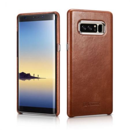 genuine leather case for note 8,ICARER Genuine Real Leather Back Case Cover For Samsung Galaxy Note 8 - Brown