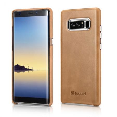 leather case for samsung note 8,ICARER Genuine Real Leather Back Case Cover For Samsung Galaxy Note 8 - Khaki