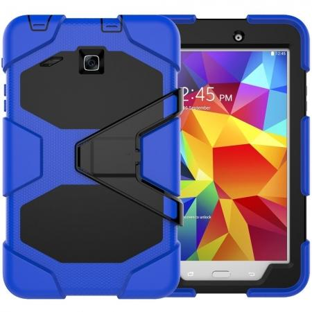 Hybrid Kickstand Shockproof Impact Resistant Rugged Armor Case For Samsung Galaxy Tab E 8.0 - Blue
