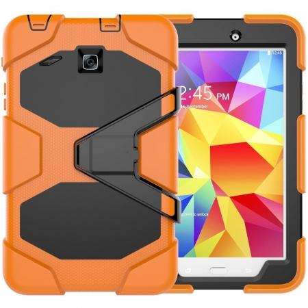 Hybrid Kickstand Shockproof Impact Resistant Rugged Armor Case For Samsung Galaxy Tab E 8.0 - Orange