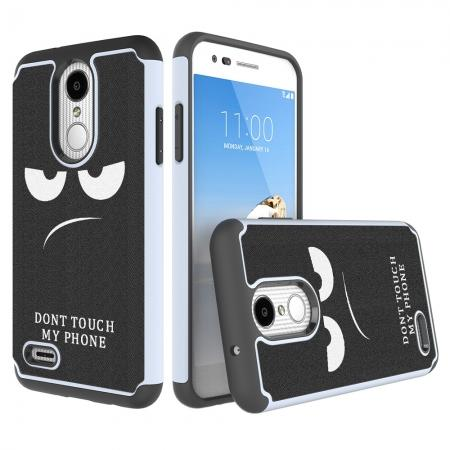 Full Body Hybrid Dual Layer ShockProof Protective Case For LG Tribute Dynasty / Aristo 2 - White&Black