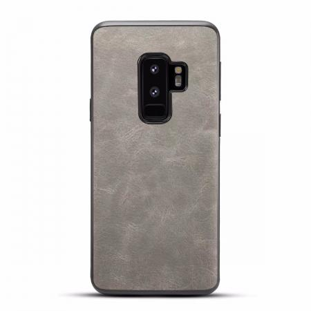 Ultra Slim Shockproof Soft PU Leather Case Cover For Samsung Galaxy S9 S9 Plus - Light Gray
