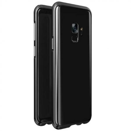 Shockproof Aluminum Metal Frame Bumper Case for Samsung Galaxy S9 - Black