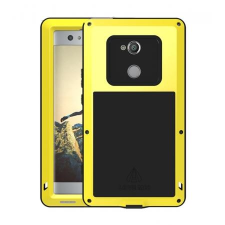 Aluminum Extreme Shockproof Weather Dust/Dirt Proof Resistant Case For Xperia XA2 Ultra - Yellow