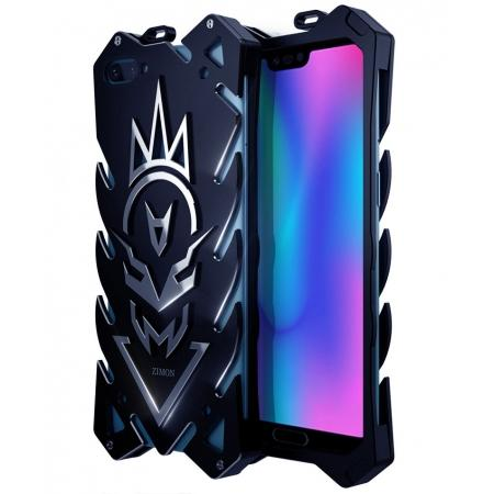 Aluminum Metal Back Shockproof Case Cover For HuaWei Honor 10 - Black