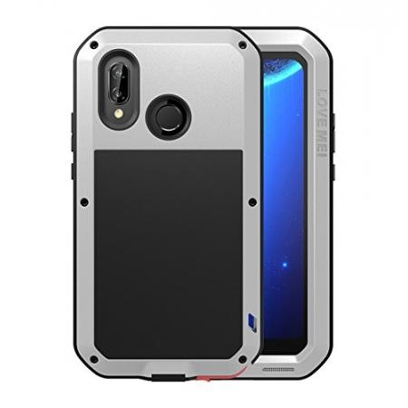 Metal Armor Shockproof Case Aluminum Cover For HUAWEI P20 Lite - Silver