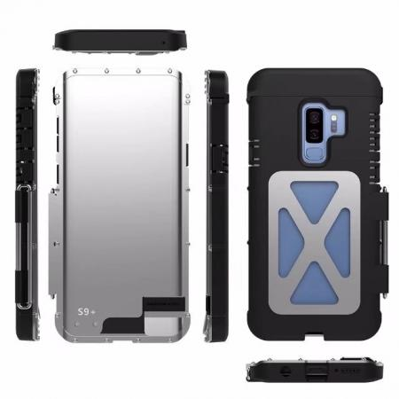 hot sale online 885b9 f33e1 R-JUST Aluminum Metal Shockproof Full Cover Case For Samsung Galaxy S9 /  Note 9 / S8 / iPhone
