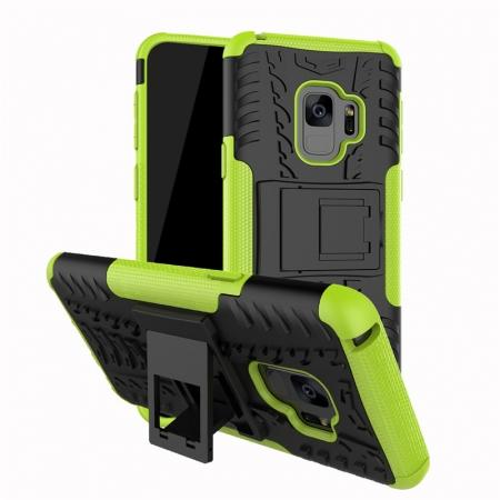 Rugged Armor Shockproof Kickstand Plastic Cover Case For Samsung Galaxy S9 - Green