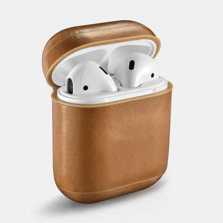 ICARER Vintage Genuine Leather Case for Apple Airpods
