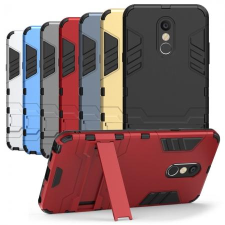 For LG Stylo 4 Rugged Armor Hybrid Protective Kickstand Case Cover