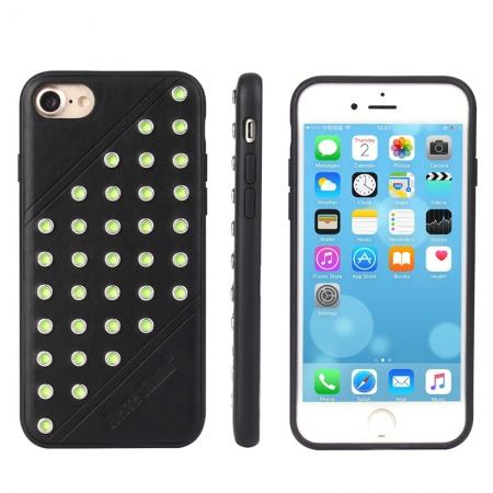 Rivet Design Leather + Soft TPU Back Case for iPhone 7