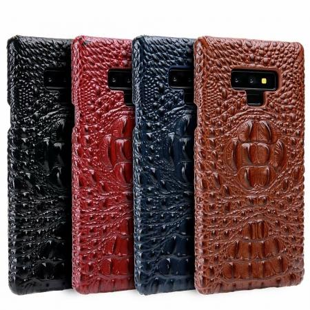 Crocodile Head Pattern Real Leather Case for Samsung Galaxy Note 9