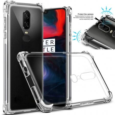 For OnePlus 6 Shockproof 360° Clear Back Slim Soft TPU Case Cover