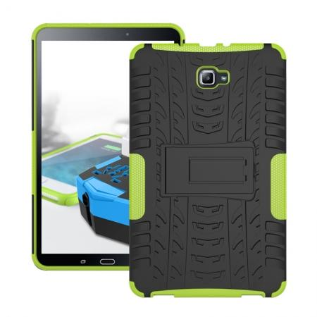 Heavy Duty Hybrid Protective Case with Kickstand For Samsung Galaxy Tab A 10.1 Inch SM-T580 SM-T585 - Green