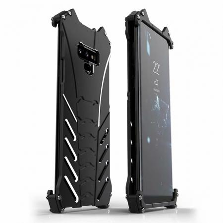 R-JUST Aluminum Metal Shockproof Protective Case for Samsung Galaxy Note 9 - Black