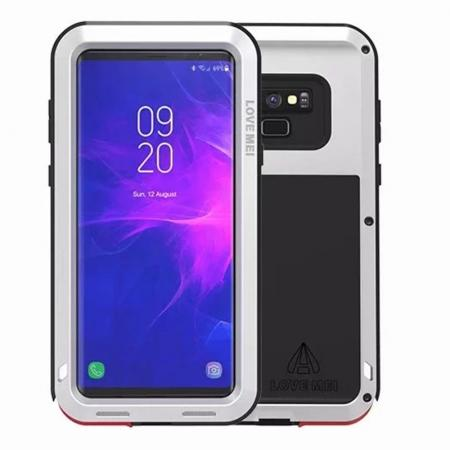Shockproof Aluminum Metal Case Heavy Duty Cover For Samsung Galaxy Note 9 - Silver