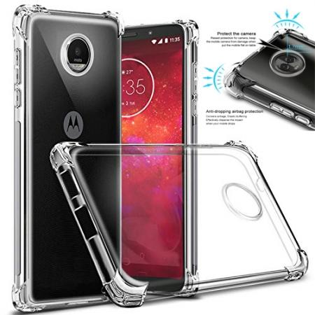 For Motorola Moto Z3 Play Airbag Shockproof Clear Silicone Soft TPU Case